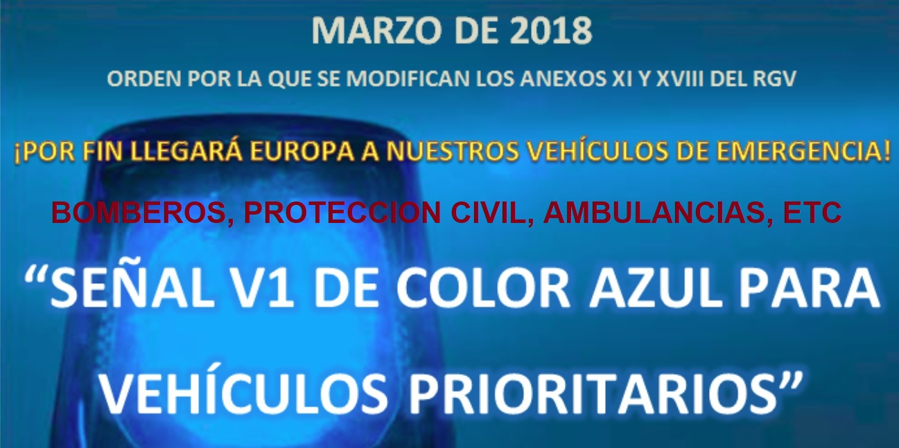 ROTATIVOS AZULES, VEHICULOS PROTECCION CIVIL, AMBULANCIAS, BOMBEROS